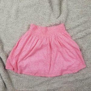 Old Navy Light Pink Lined Mini Skater Skirt Small